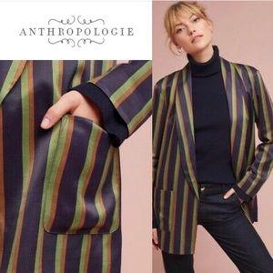 Anthropology ett twa satin striped blazer sz L